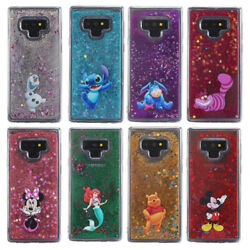 Cute Cartoon Glitter Quicksand Soft Case Cover For Samsung Galaxy S7 S8 Note 9 $8.09