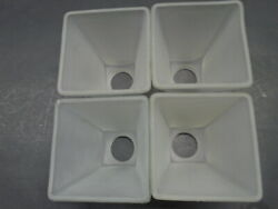 HAMPTON BAY CEILING FAN REPLACEMENT SHADES GLOBES 4 FROSTED SQUARE $40.00
