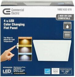 Commercial Electric Ceiling LED Flat Panel 4quot; Flush Mount Dimmable White Light $16.99