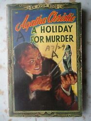 A Holiday For Murder by Agatha Christie Avon #124 1947 Paperback $7.99
