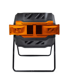 Dual Composting Tumbler 42 Gal. Outdoor Rodent Proof Powder Coated Frame Black $148.00