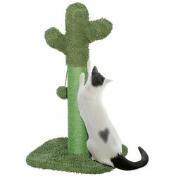 Cat Scratching The Cactus Cat Post with Teaser Ball Scratcher for Kitten $23.99