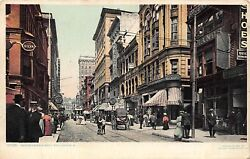RI 1900's Rhode Island Busy Day at Westminster Street in Providence R.I. $9.95