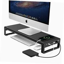 USB 3.0 Aluminum Monitor Stand Metal Riser Support Transfer DataKeyboard and M $99.61