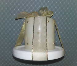 Candle and ceramic holder $3.85