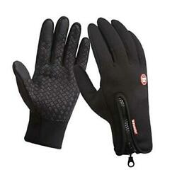 Cycling Gloves Full Finger Winter Thermal Touch Screen Warm Windproof Waterpro $15.89