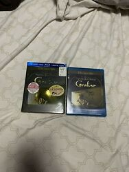 New Sealed Tim Burton Coraline Blu Ray 2 Disk Collector#x27;s Edition w 3 D Glass $16.99
