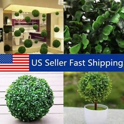 12 30cm Artifical Green Grass Ball Topiary Hanging Plant Garland Mini Home $9.28