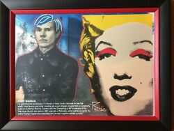 Homage to Andy Warhol quot;Marilyn oil on canvas silkscreen Steve Kaufman Ringo $195.00