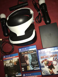 PS VR PS4 Virtual Reality Headset CUH ZVR2 Bundle VR Games Motion Camera $314.75