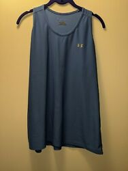 Gently Used Light Blue Under Armor Racerback Tank Top Size XL
