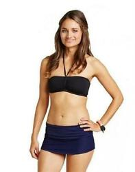 Carve Designs 155069 Women#x27;s Playa Anchor Skirted Navy Blue Bottoms Size Small $36.75