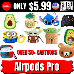 Cute 3D Cartoon Silicone Case Cover For Airpods Pro Apple Case US TPU Hero Star $5.99