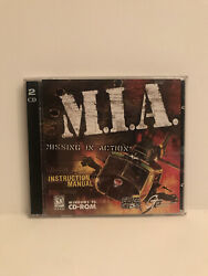 Vintage Windows 95 CD Rom Helicopter Game w Manual M.I.A. Missing In Action $5.00