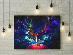 Rick And Morty Cartoon Glossy Poster Home Wall Room Decor No Frame Gift Friends $24.90