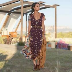 Sundance Primrose Midi Floral Dress Size 6 Bohemian Dress MSRP $198 $148.00