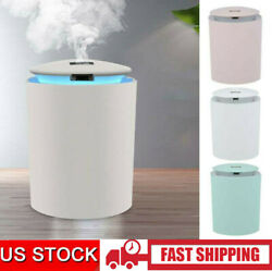 Air Humidifier Night Lamp Office Bedroom USB Powered Atomizer with 3 Color Light $11.99