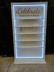 CHAMPAGNE GLASS CELEBRATION WALL Wedding amp; Event Presentation Wall for Flutes $795.00