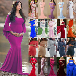Ladies Pregnancy Maternity Long Dress Bodycon Party Gown Photography Photo Shoot $21.65