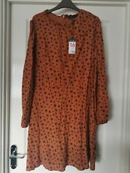 BNWT Ladies Burnt Orange Dress. Primark. Size 16