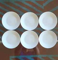 SET OF 6 ROSENTHAL CLASSIC MODERN WHITE BREAD amp; BUTTER PLATES 2 SETS AVAILABLE $45.00