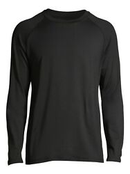 George Black Long Sleeve Shirt Mens Size XL Quick Dry UPF 50 Rash Guard Stretch