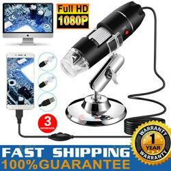 1600X 8LED 2MP USB Digital Microscope Endoscope Zoom Camera Magnifier With Stand $23.47