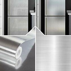 Stainless Steel Silver Contact Countertop Paper Vinyl Self Adhesive Film Kitchen $13.60