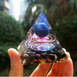 Orgonite Pyramid Amethyst Sphere With Obsidian Healing Chakra Meditation $15.99