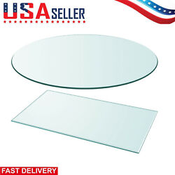 Modern Table Top Glass Clear Tempered Replacement Protection Cover 11 Sizes $103.99