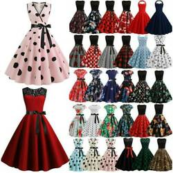 Women Retro Hepburn 50s 60s Dress Pinup Party Rockabilly Swing Dress Cocktail $16.43
