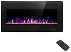 R.W. Flame 36quot; Electric Fireplace Recessed Wall Mounted In Wall Fireplace Heater $199.99