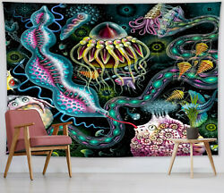 Fantasy Mystery Underwater Creatures Tapestry Wall Hanging Living Room Bedroom $13.99