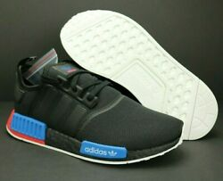New Adidas NMD R1 Lush Red Black Blue Extra Laces 2020 Men#x27;s Shoes FX4355 $109.00