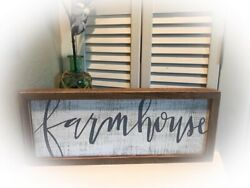 """Rustic FARMHOUSE Chippy Paint wooden rustic family home decor country 20"""" Large $32.00"""