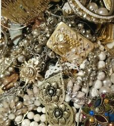 Jewelry Vintage Modern Huge Lot Craft Junk Restore🌷Over TWO Full Pound LBS🌻 $32.99