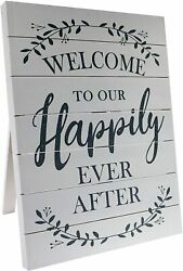 Barnyard Designs Welcome to Our Happily Ever After Sign Rustic Vintage Decor $55.90