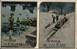 California Coasting for you Bathing for me Western Pub. amp; Novelty Co. Postcard $9.99