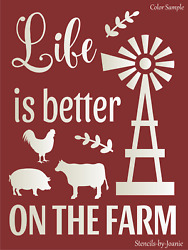 Stencil Life Better Farm Windmill Cow Country Western Rustic DIY Farmhouse Signs $14.95