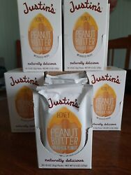 Justin#x27;s Nut Butter Squeeze to go Pack Peanut Butter Packets LOT 60 lunchbox $38.90