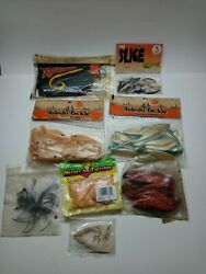 Lot of Assorted Plastic Fishing Worms crappie bass perch Rubber Worms lot#4 $15.00