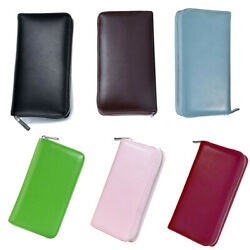 Hot Men Womens Leather Large Capacity Credit ID Card Holder RFID Blocking Wallet $16.59
