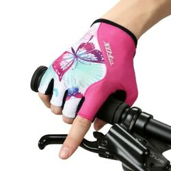 1 Pair Gloves Bicycle Cycling Finger Half Polymer Sponge Sports Useful C $24.15
