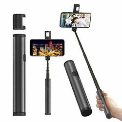 Magic Pipe Mini Selfie Stick Bluetooth with Magnetic LED Fill Light Extendable $4.99