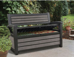 Keter Hudson Plastic Storage Bench Deck Box $215.00