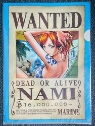 Nami One Piece clear file LAWSON 10th ANNIVERSARY From Japan 325 $6.99
