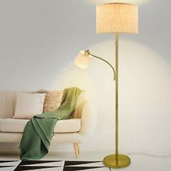 DLLT Rustic Floor Lamps for Living Room Modern Tall Pole Light with Adjustable $108.45
