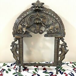 Handcrafted Yali Wall Hanging Antique Brass Hindu Indian Decoration 17quot;H 12W $65.95