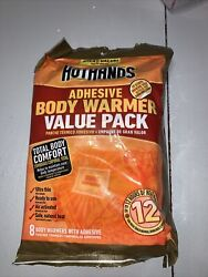Hot Hands Adhesive Body Warmer Value Pack 8 Body Warmers $11.99