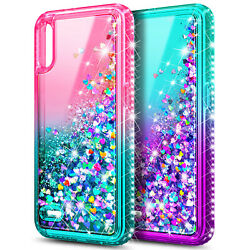 For LG K22 K22 Plus Case Liquid Glitter Cute Cover Tempered Glass Protector $9.99